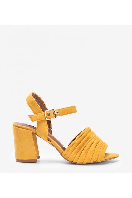 Dámske topánky sandále žlté kód 1L-19267 - GM
