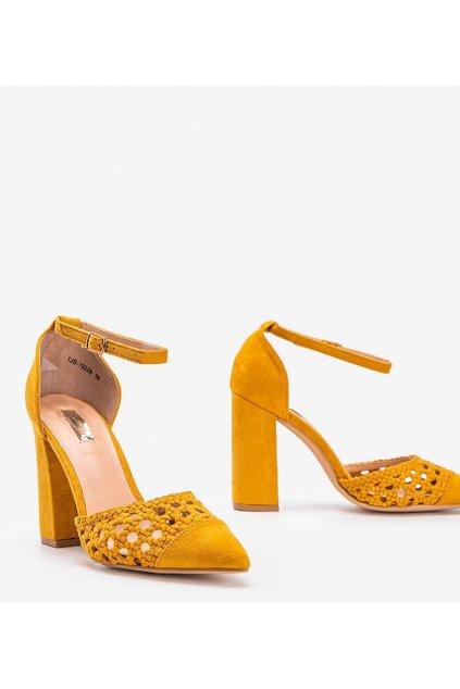 Dámske topánky lodičky žlté kód 1JB-19228 - GM