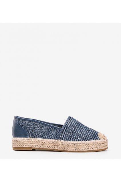 Dámske topánky espadrilky modré kód 4620 - GM