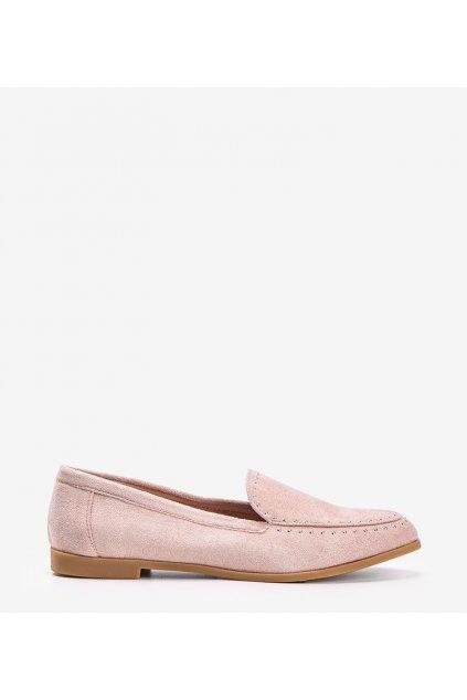 Dámske topánky mokasíny ružové kód 4322 - GM