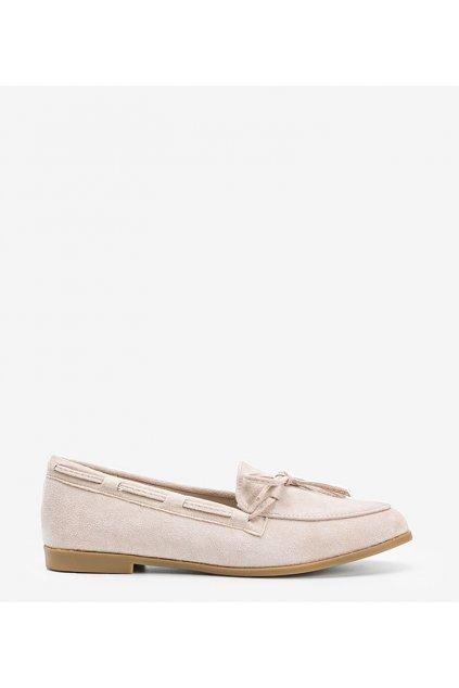 Dámske topánky mokasíny hnedé kód 3394 - GM