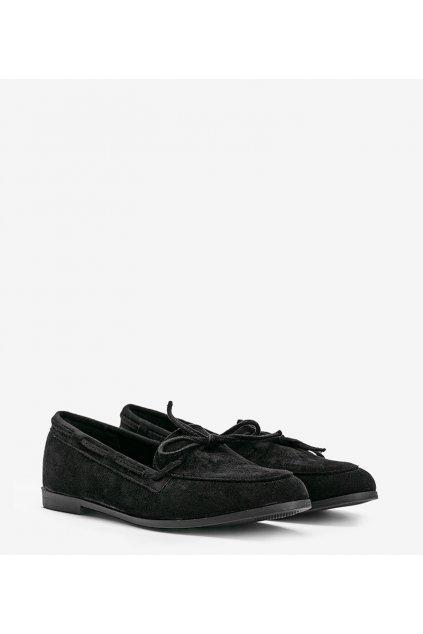Dámske topánky mokasíny čierne kód 3394 - GM