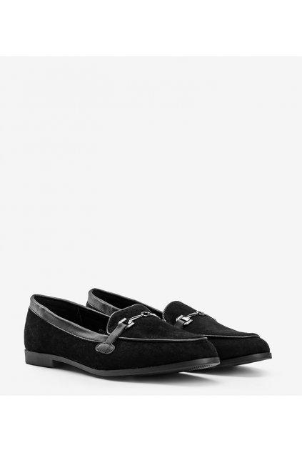 Dámske topánky mokasíny čierne kód 8742 - GM