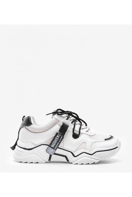 Dámske topánky tenisky biele kód B1234-2 - GM