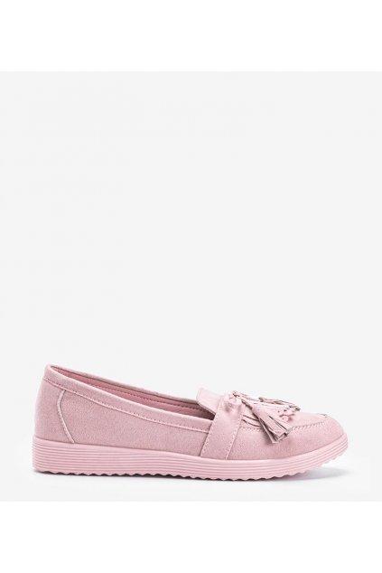 Dámske topánky mokasíny ružové kód DD1815-6 - GM