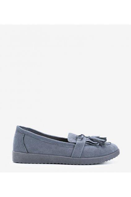 Dámske topánky mokasíny sivé kód DD1815-40 - GM