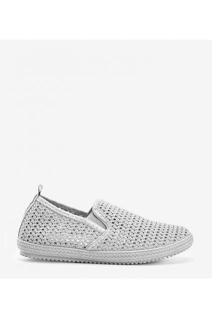 Dámske topánky tenisky sivé kód LW-109 - GM