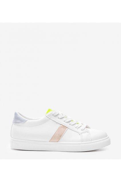 Dámske topánky tenisky biele kód WB811-7 - GM