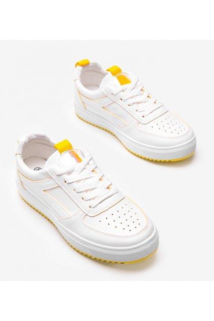Dámske topánky tenisky biele kód R-488 - GM