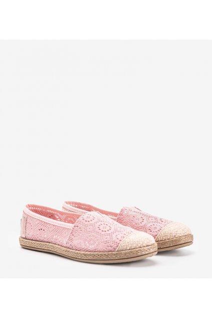 Dámske topánky espadrilky ružové kód NR1717-4 - GM