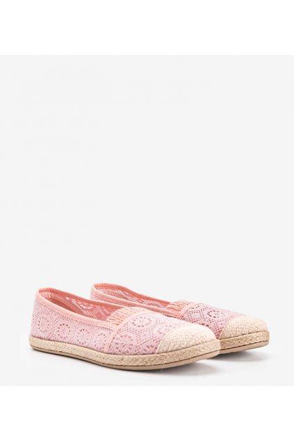 Dámske topánky espadrilky ružové kód NR1718-4 - GM