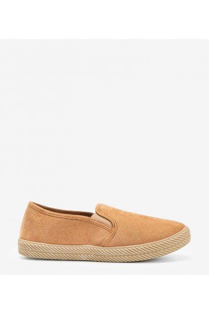 Dámske topánky tenisky hnedé kód HL-10 - GM