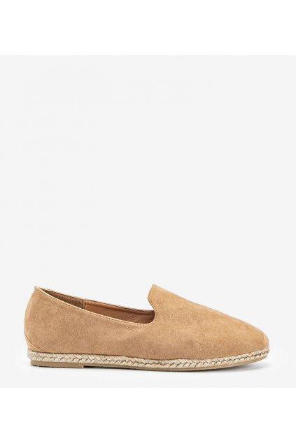 Dámske topánky mokasíny hnedé kód HL-17 - GM