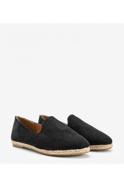 Dámske topánky mokasíny čierne kód HL-18 - GM