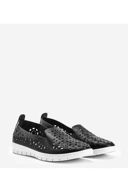 Dámske topánky tenisky čierne kód R9 - GM