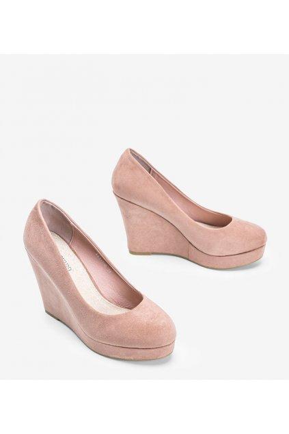 Dámske topánky lodičky ružové kód LEI-108 - GM