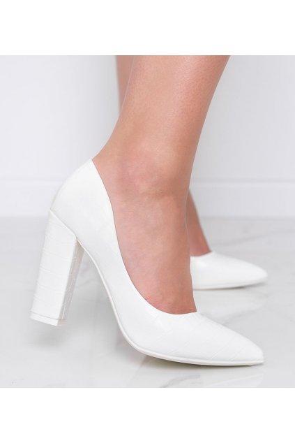 Dámske topánky lodičky biele kód LY9182-3 - GM