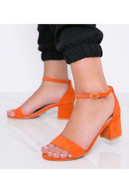 Dámske topánky sandále oranžové kód 99-36A - GM