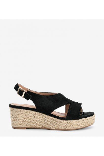 Dámske topánky sandále čierne kód 9R67 - GM