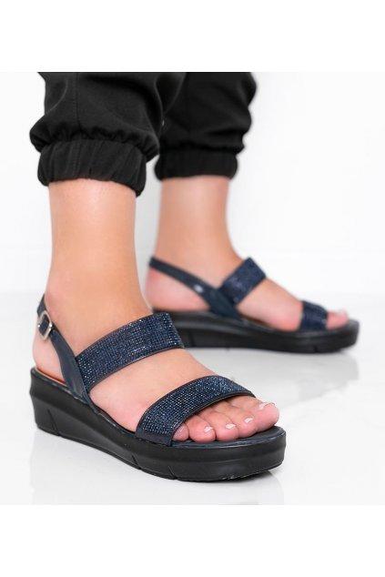 Dámske topánky sandále modré kód A89912 - GM