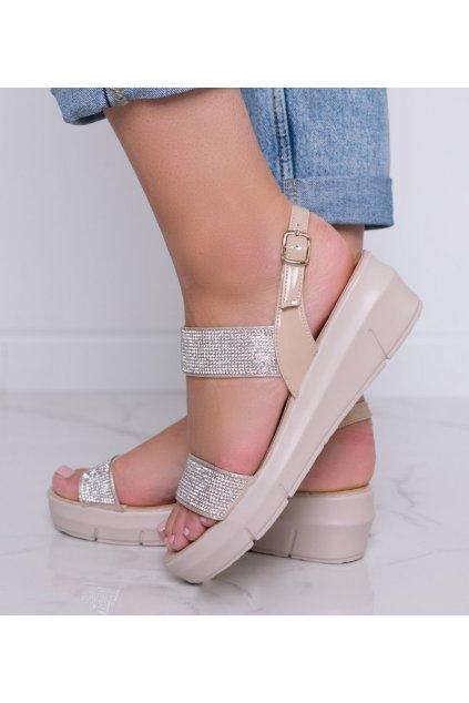 Dámske topánky sandále hnedé kód A89912 - GM