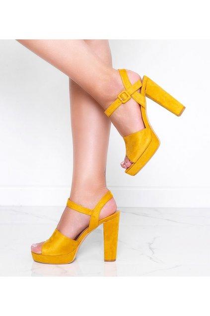 Dámske topánky sandále žlté kód 9R16 - GM