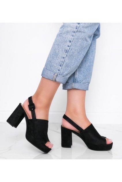 Dámske topánky sandále čierne kód 9R18 - GM