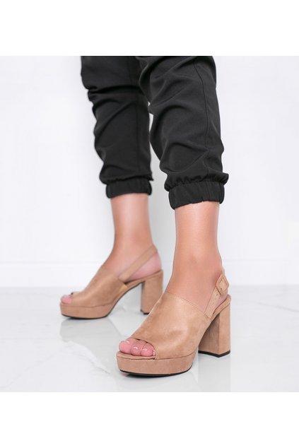 Dámske topánky sandále hnedé kód 9R18 - GM