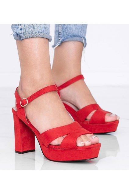 Dámske topánky sandále červené kód 9R28 - GM
