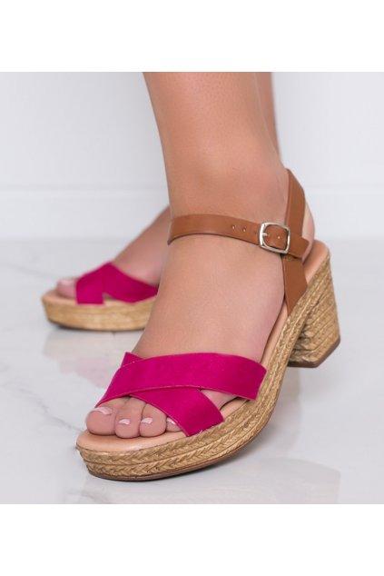 Dámske topánky sandále ružové kód 9R129 - GM