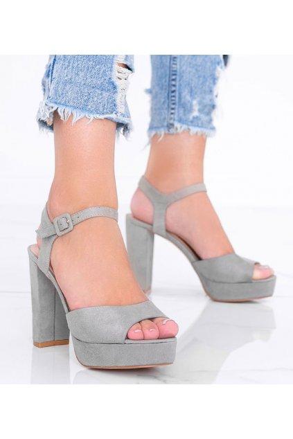 Dámske topánky sandále sivé kód AT-0660-L - GM