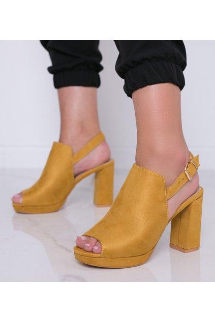 Dámske topánky sandále žlté kód LL669 - GM