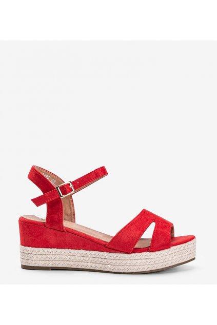 Dámske topánky sandále červené kód 9R95 - GM