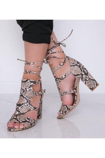 Dámske topánky sandále hnedé kód 168-231 - GM