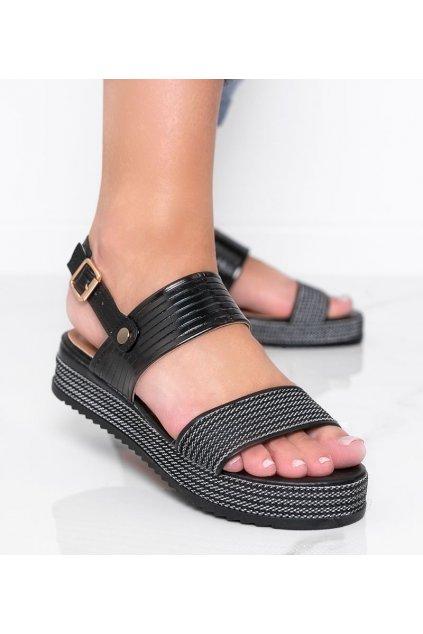Dámske topánky sandále čierne kód YQ16 - GM