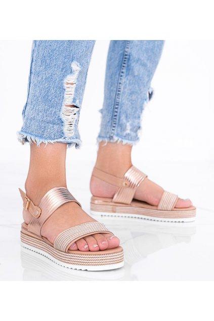 Dámske topánky sandále hnedé kód YQ16 - GM