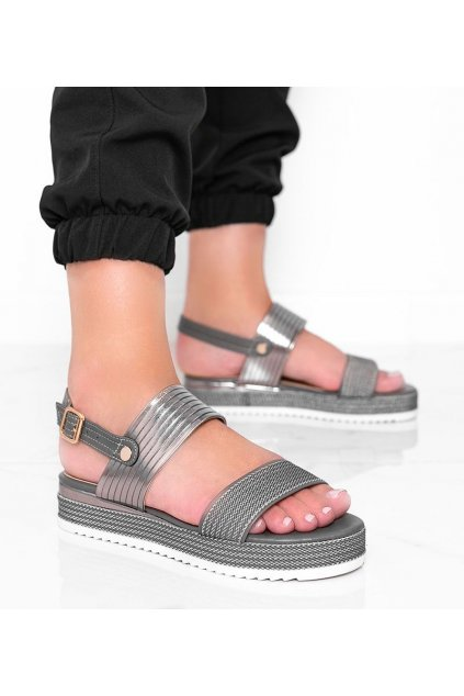 Dámske topánky sandále sivé kód YQ16 - GM