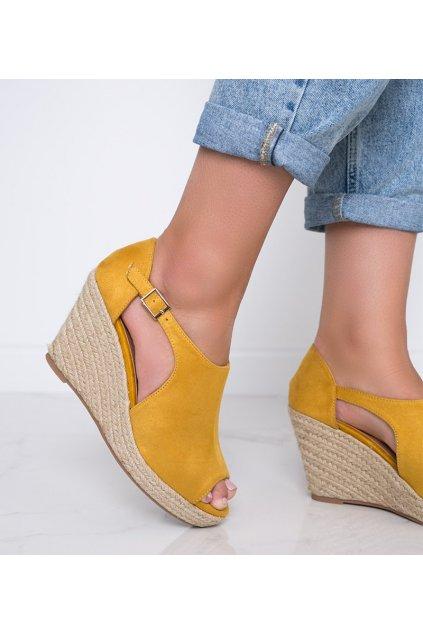 Dámske topánky sandále žlté kód 9R62 - GM