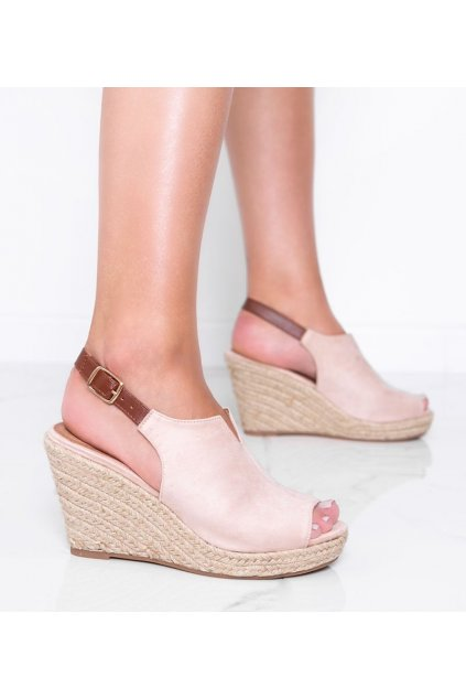Dámske topánky sandále hnedé kód 9R61 - GM