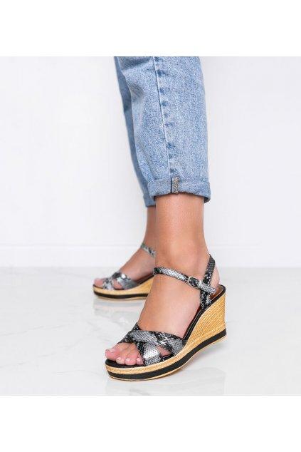 Dámske topánky sandále čierne kód A89928 - GM