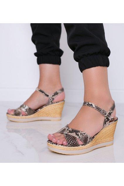 Dámske topánky sandále hnedé kód A89928 - GM