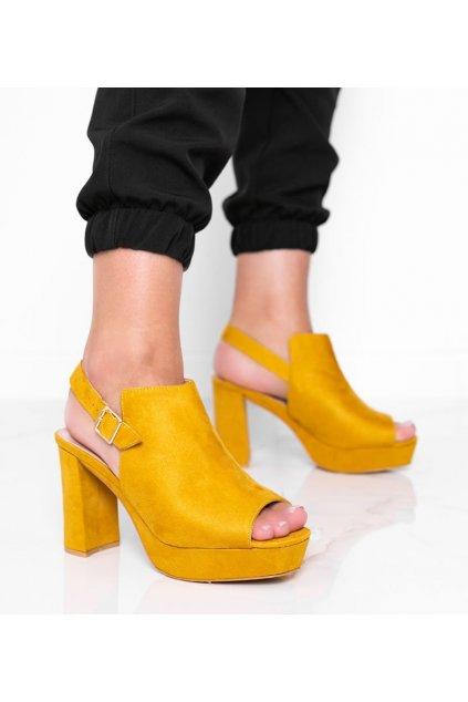 Dámske topánky sandále žlté kód 9R30 - GM