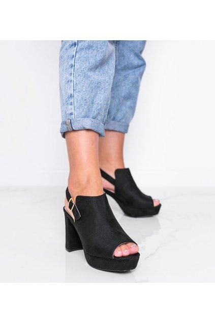 Dámske topánky sandále čierne kód 9R30 - GM