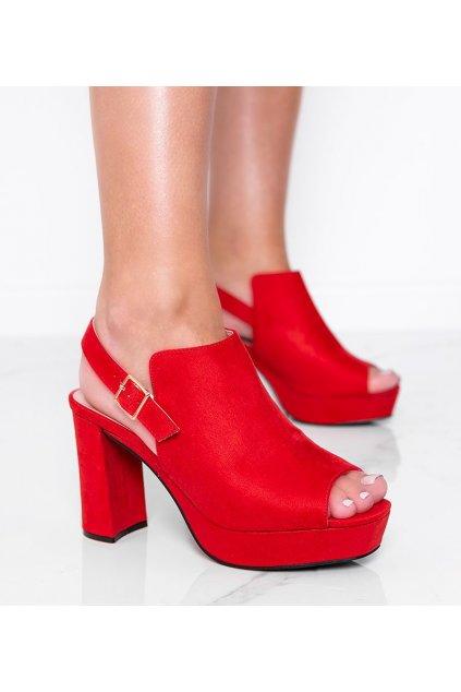 Dámske topánky sandále červené kód 9R30 - GM