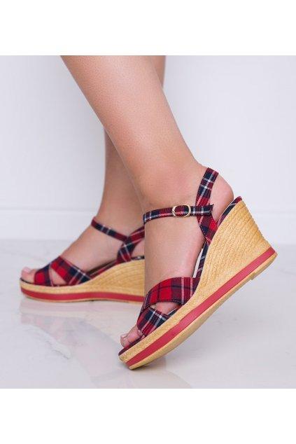Dámske topánky sandále červené kód A89937 - GM
