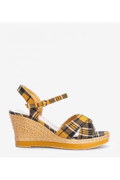 Dámske topánky sandále žlté kód A89937 - GM