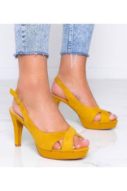 Dámske topánky sandále žlté kód 9R91 - GM