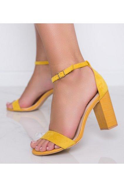 Dámske topánky sandále žlté kód 223-SA-2 - GM