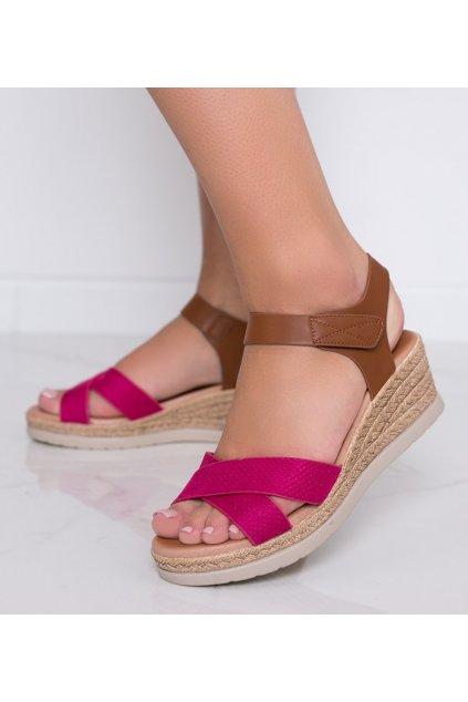 Dámske topánky sandále ružové kód 9R193 - GM