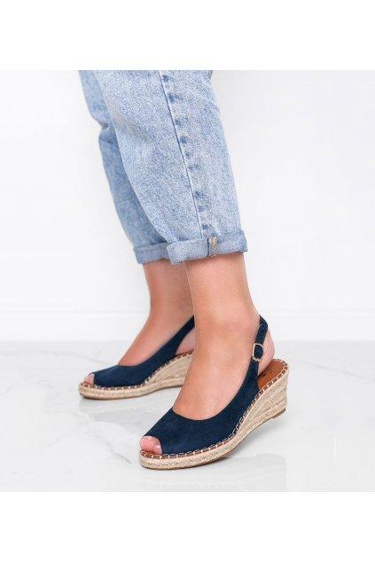 Dámske topánky sandále modré kód H135 - GM